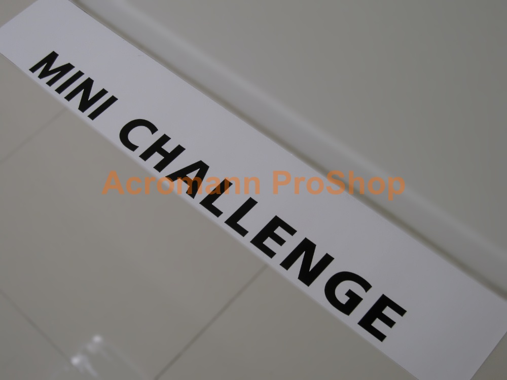 MINI CHALLENGE Windshield Decal (Style#1)